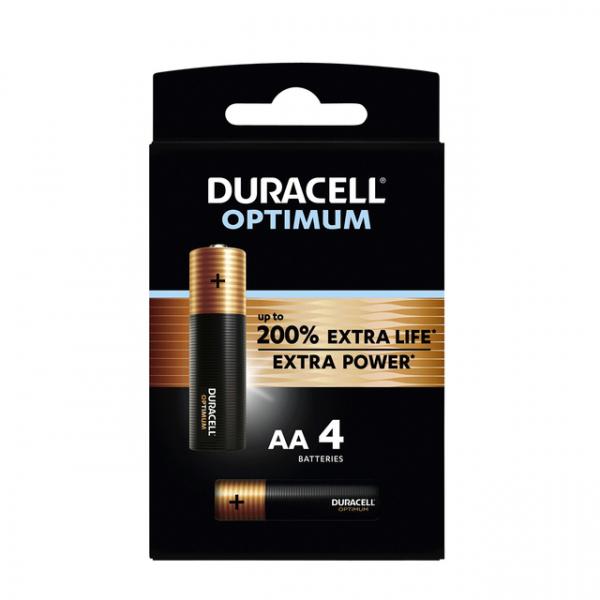 Batterij duracell optimum aa   blis/4st