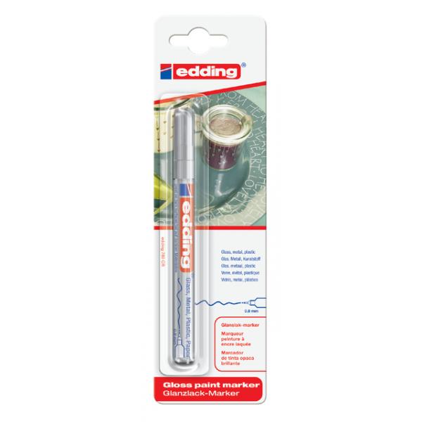 Viltstift edding 780 lak perm rond 0.8mm zilver