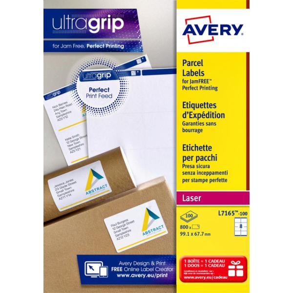 Etiket avery l7165-100 99.1x67.7mm 800st