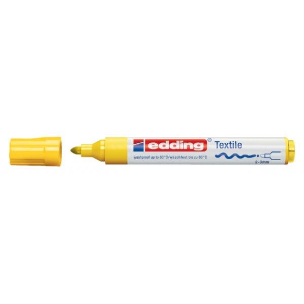 Viltstift edding 4500 textiel rond 2-3mm geel