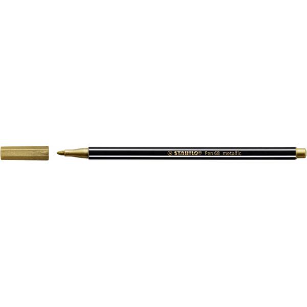 Viltstift stabilo 68/805 metallic goud(68/810)