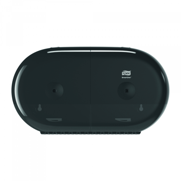 Tork Smart one, twin toiletpapier dispenser, zwart T9 682008