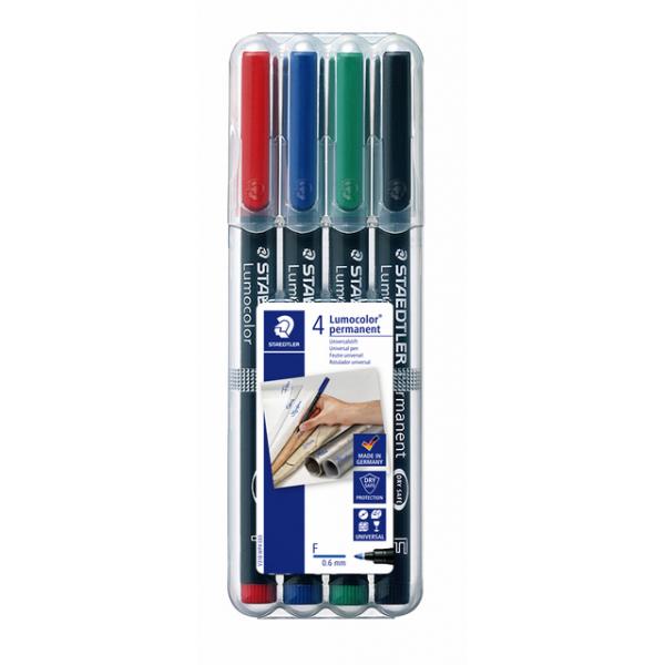 Viltstift staedtler perm ohp lumocolor f 318 wp4