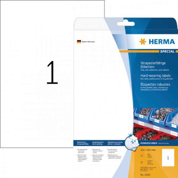 Etiket herma superprint 4698 a4 25st