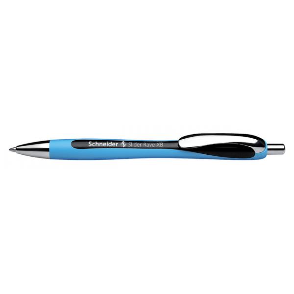Balpen schneider slider rave blauw/zwart(s-132501)
