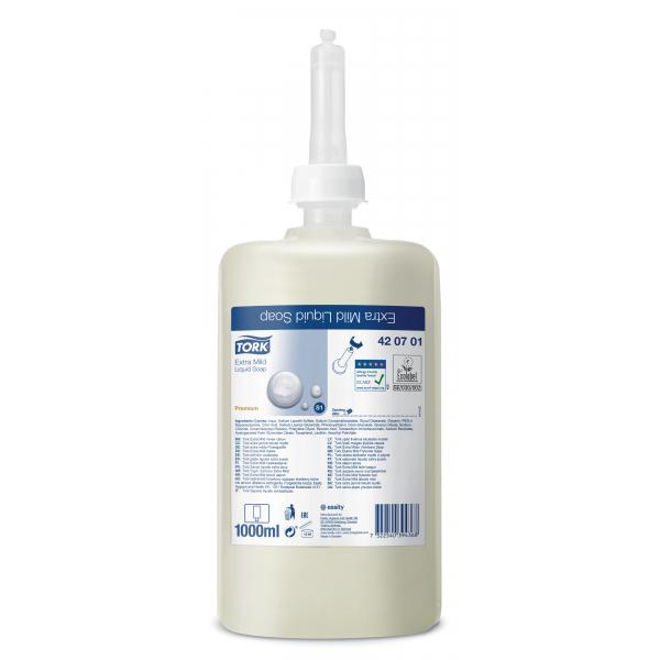 Tork Premium, vloeibare zeep, extra mild, 1 l, 420701 (6 st)
