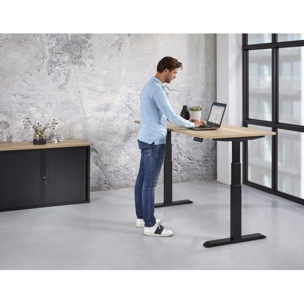 Zit/sta elektrisch instelbaar bureau