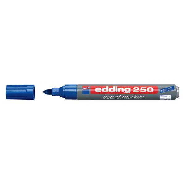 Viltstift edding 250 whiteboard rond 2mm blauw
