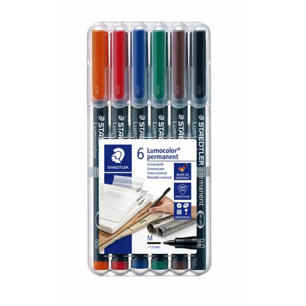Viltstift staedtler ohp lumocolor m 317 wp6