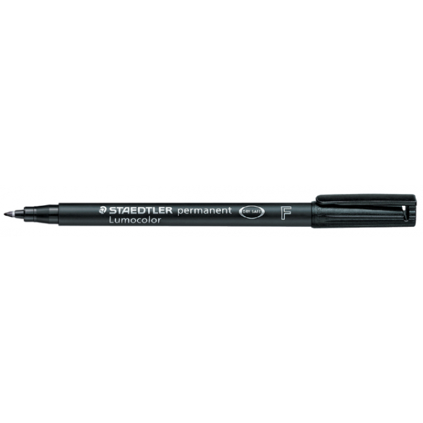 Viltstift staedtler ohp lumocolor f 318 zwart