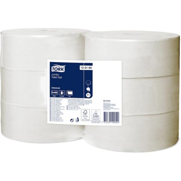 Tork Universal, toiletpapier, jumbo, 1 lgs, 480m, 120160 (6)