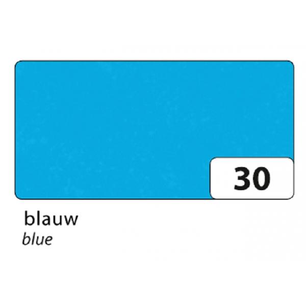 Zijdevloeipapier folia 50x70cm 20g nr 30 blauw(91030)
