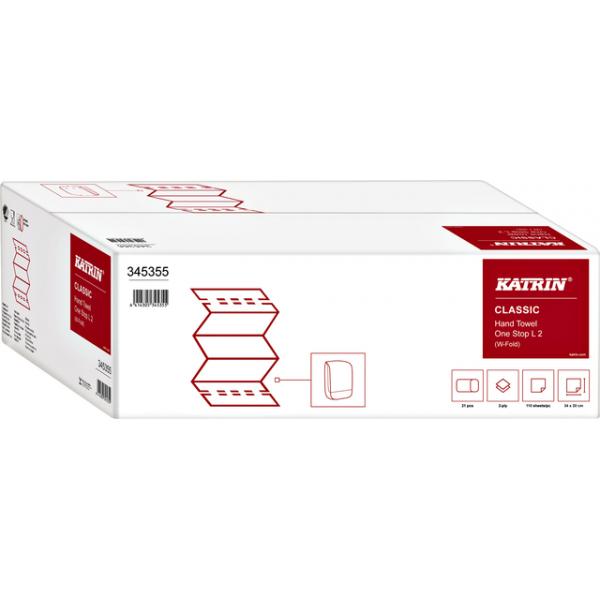 Handdoek katrin classic l2-vouw 20x34cm 2310st 345355(205072