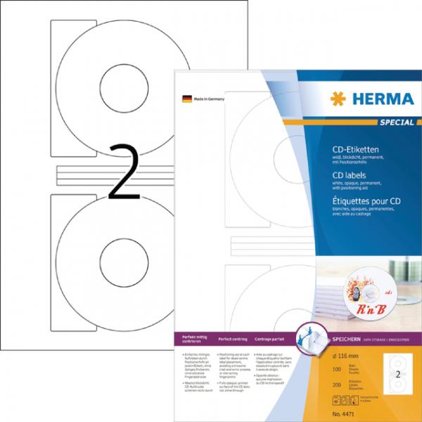 Etiket herma superprint 4471 cd 200st
