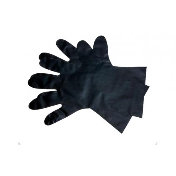 Handschoen, basic plus, TPE, M, zwart, ongepoederd (2000)