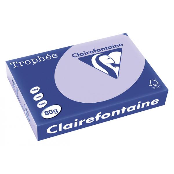 Kopieerpapier clairefontaine trophee a4 80gr lila