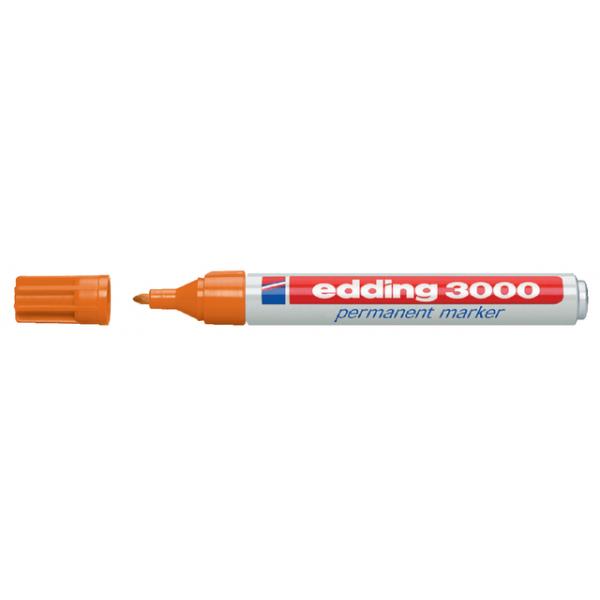Viltstift edding 3000 perm rond 1.5-3mm oranje