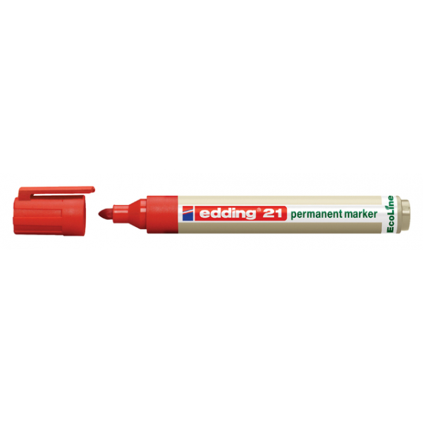 Viltstift edding 21 ecoline rond 1.5-3mm rood
