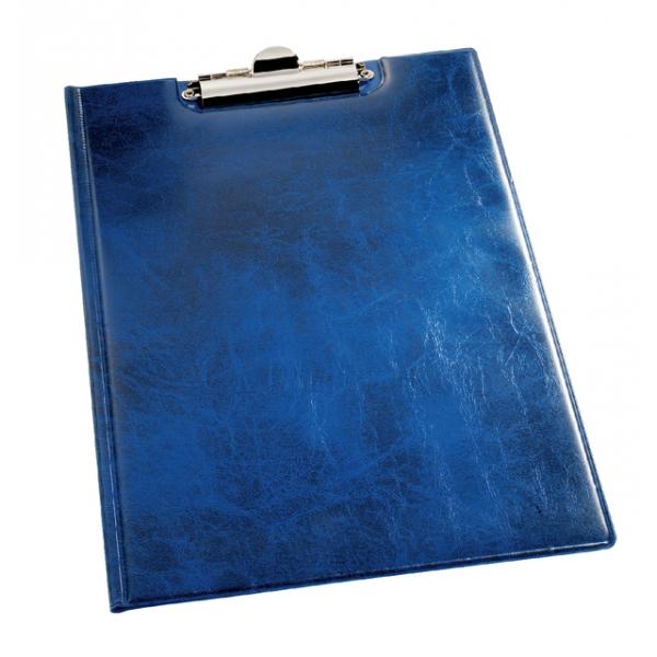 Klemmap durable 2355 a4 kopklem met insteek blauw