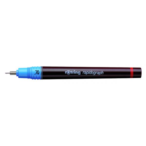 Tekenpen rotring 155070 rapidograph 0.70mm blauw