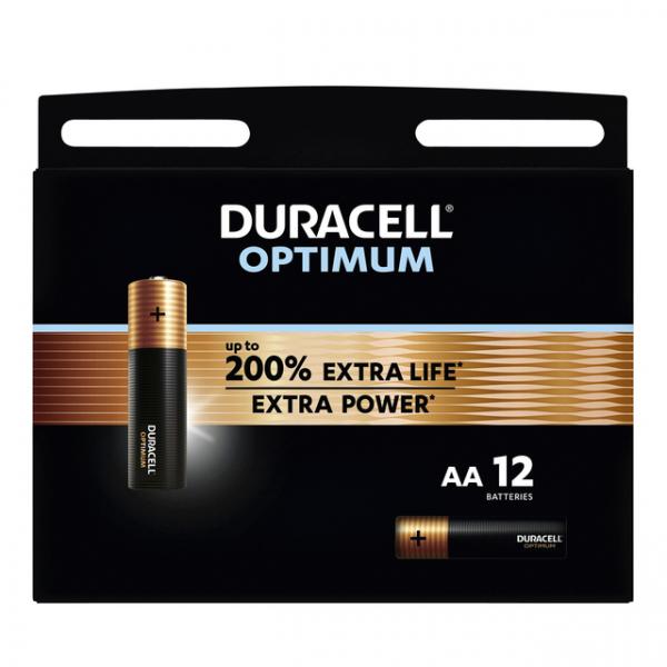 Batterij duracell optimum aa 12st(5000394137905)
