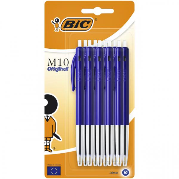 Balpen bic m10 blauw blister