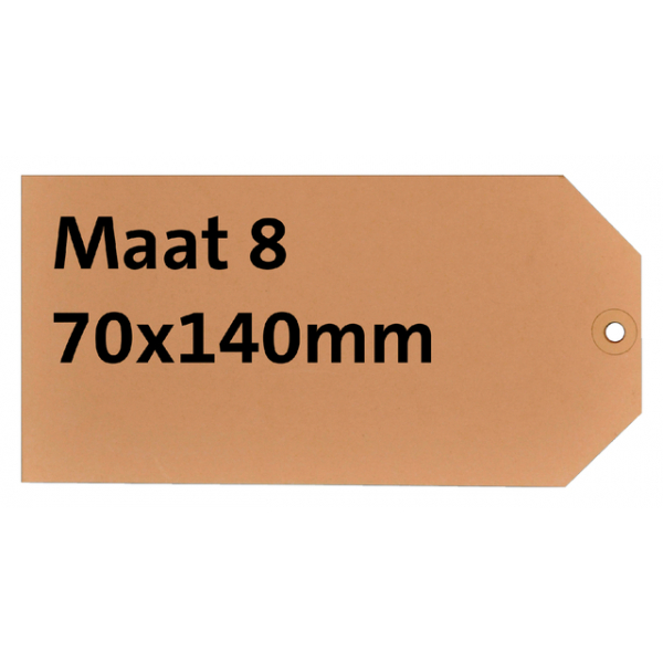 Label karton nr8 200gr 70x140mm chamois ds/1000