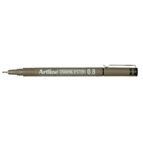 Fineliner artline 0.8mm zwart