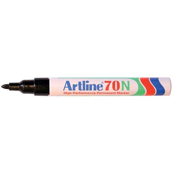 Viltstift artline 70 perm rond 1.5mm zwart