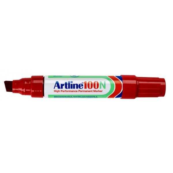 Viltstift artline 100 perm schuin 4-12mm rd