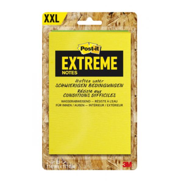 Memoblok post-it extreme 114x171mm geel groen(ext57m-2-frge)
