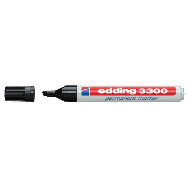 Viltstift edding 3300 perm schuin 1-5mm zwart
