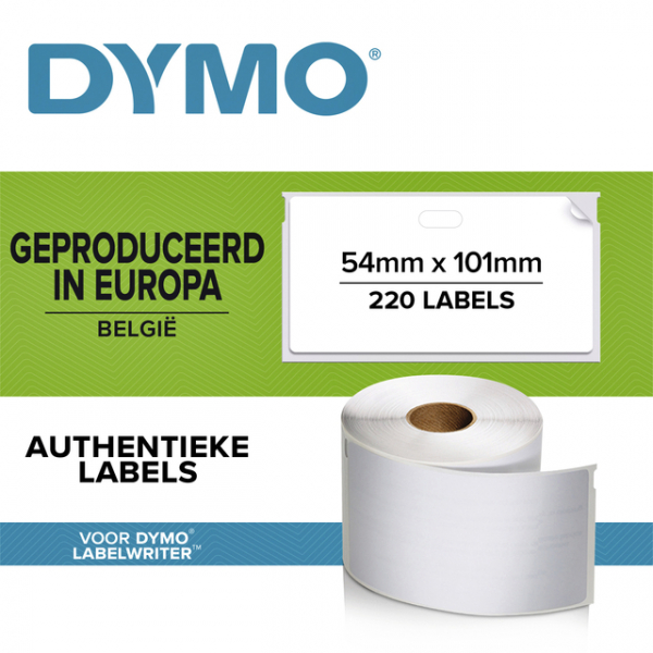 Etiket dymo 99014 labelprint badgelabel 54x101mm