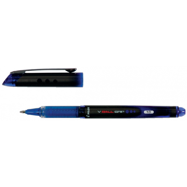Rollerpen pilot v-ball grip blgp-vb-10 0.7mm blauw