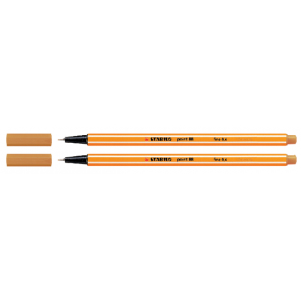 Fineliner stabilo point 88 apricot