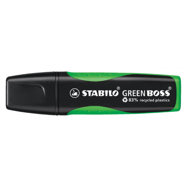 Markeerstift stabilo green boss 6070/33 groen(6070/33)