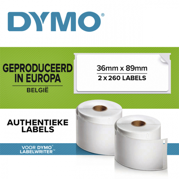 Etiket dymo 99012 labelprint eurolabel 36x89mm