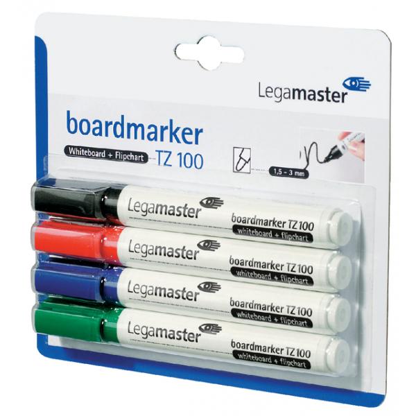 Viltstift lega tz100 whiteboard rond 2mm 4st ass