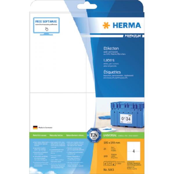 Etiket herma superprint 5063 105x148mm 100st