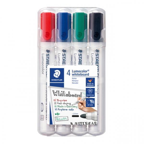 Viltstift staedtler 351 whiteboard rond 2mm 4st