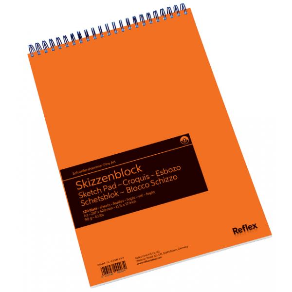 Schetsblok sh a3 spiraal 120vel 90gr(vf5003611)