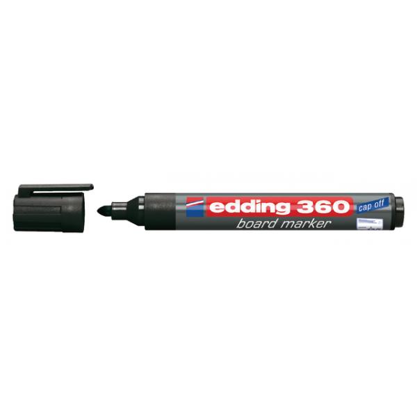 Viltstift edding 360 whiteboard rond 3mm zwart
