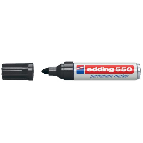 Viltstift edding 550 rond 3-4mm zwart(4-550001)