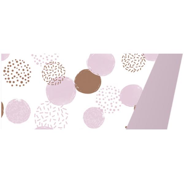 Cadeaupapier, 30cm x 175m, K602051/2, Dots pink-gold