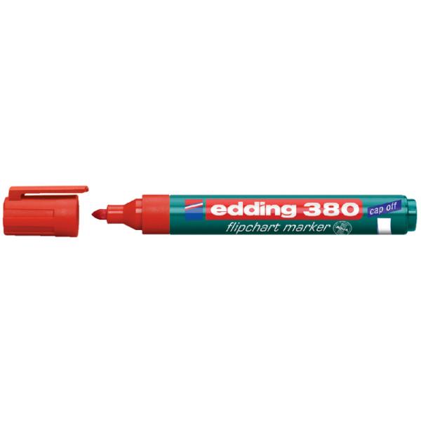 Viltstift edding 380 flipover rond 2mm rood