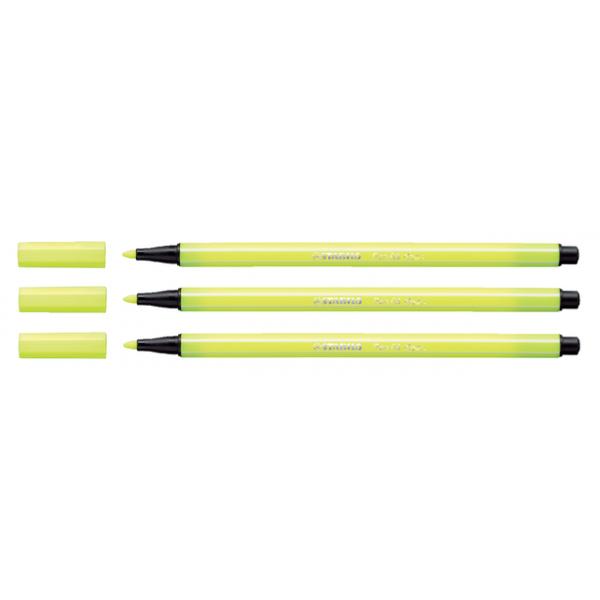 Viltstift stabilo 68 neon geel(68/024)