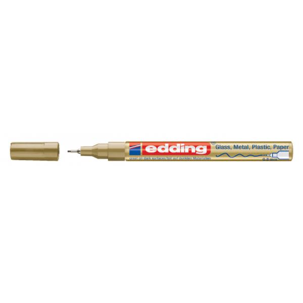 Viltstift edding 780 lak perm rond 0.8mm goud