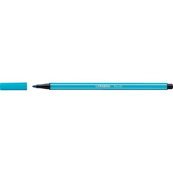 Viltstift stabilo 68/31 lichtblauw(68/31)