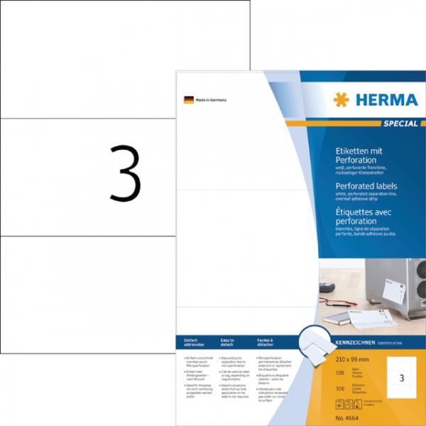 Etiket herma superprint 4664 210x99mm 300st