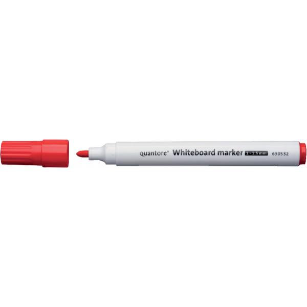Viltstift quantore whiteboard rond 2-3mm rood
